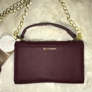 Gianni Bini Maroon Leather Crossbody